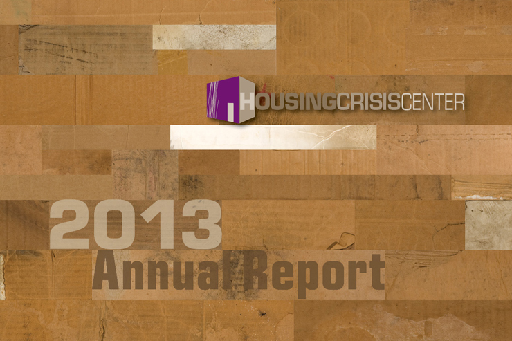 Housing Crisis Center Annual Report 2013 cover