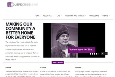 Housing Crisis Center website