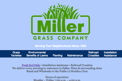 millergrass.com website