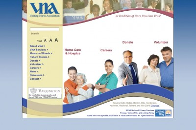 VNA of Texas website