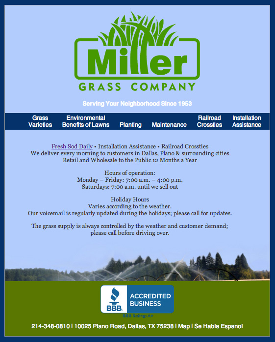 Miller Grass website millergrass.com