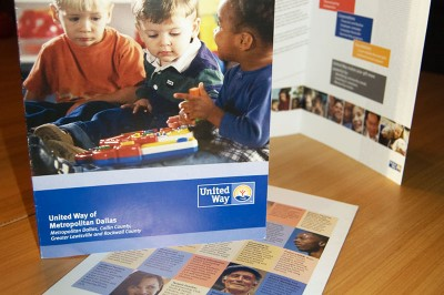 United Way Brochure Kim Schlossberg Designs