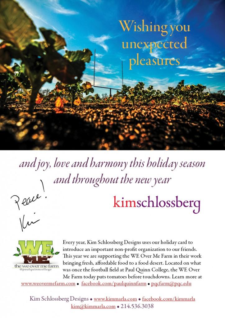 Happy Holidays from Kim Schlossberg Designs