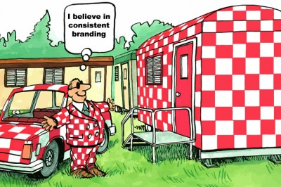 I believe in consistent branding.