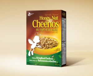 Bring Back the Bees Honey Nut Cheerios box