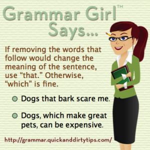 Grammar Girl which vs. that