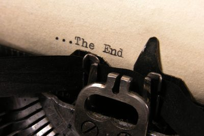 Typewriter typing The End