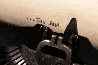 Typewriter typing The End