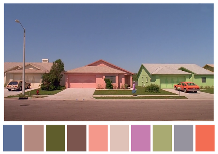 Edward Scissorshands color palette