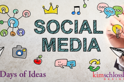 30 Days of Social Media Topics by Kim Schlossberg Designs