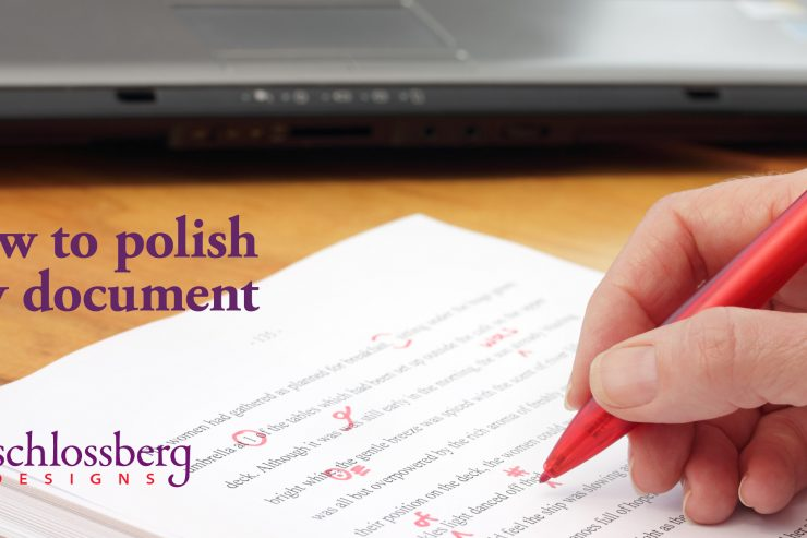 How To Polish Any Document by Kim Schlossberg Designs