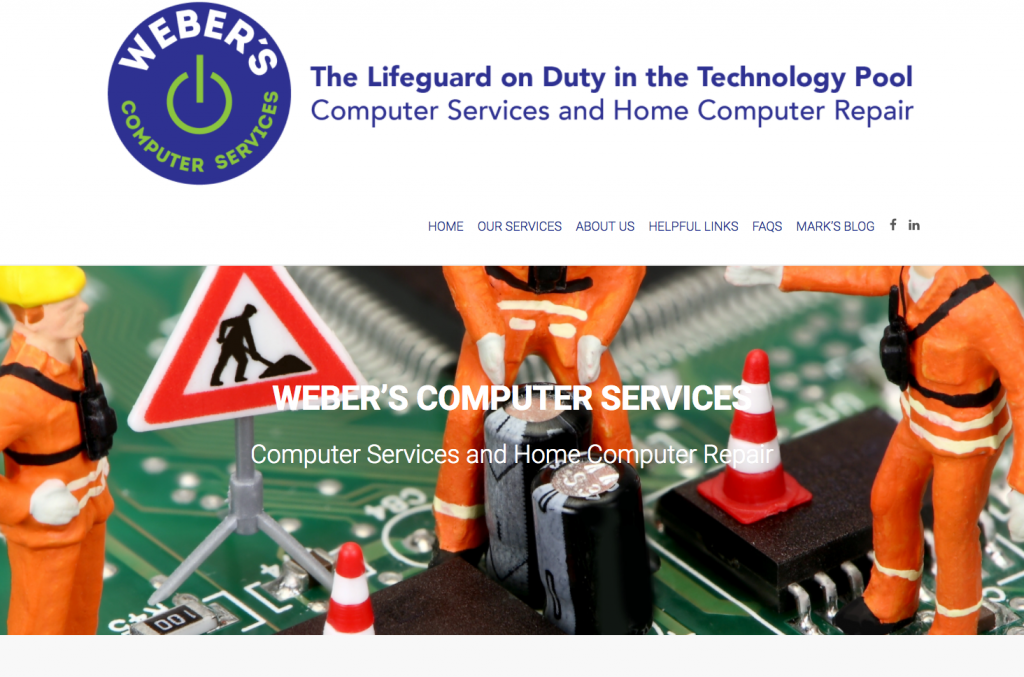 Weber's Computer Services website screen shot