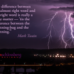 Twain Lightning Bug quote - Kim Schlossberg Designs